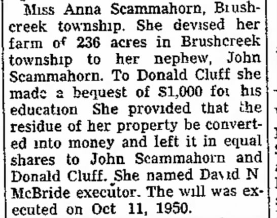 1952Nov28_AnnaScammahornWillExecutorAssigned - case the pay L. Eiford the justice Anna...