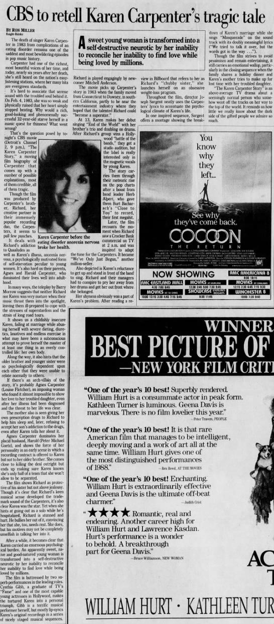 Karen Carpenter CBS film 1989 -
