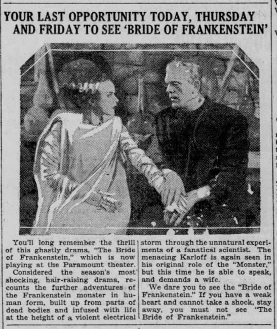 The Bride of Frankenstein in IN (2) -