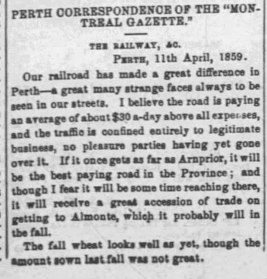 """- PERTH CORRESPONDENCE OF THE """"M0N-r TBEAL..."""