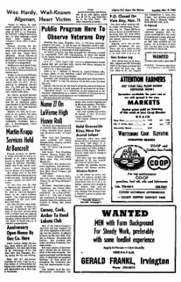 The Algona Upper Des Moines from Algona, Iowa on November 9, 1965 · Page 9