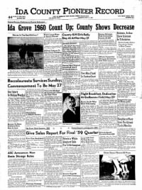 Sample Ida County Pioneer Record front page