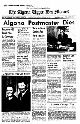 The Algona Upper Des Moines from Algona, Iowa on December 7, 1965 · Page 1