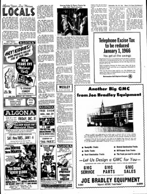 The Algona Upper Des Moines from Algona, Iowa on December 29, 1965 · Page 9