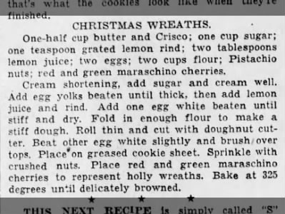 1948: Christmas Wreaths recipe