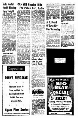 The Algona Upper Des Moines from Algona, Iowa on January 18, 1966 · Page 10