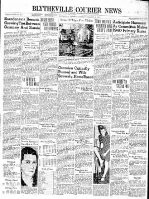 The Courier News from Blytheville, Arkansas on February 8, 1940 · Page 1