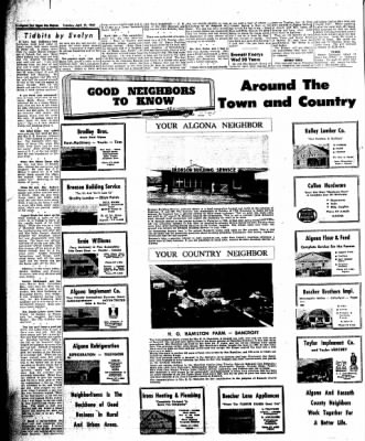 The Algona Upper Des Moines from Algona, Iowa on April 19, 1960 · Page 18