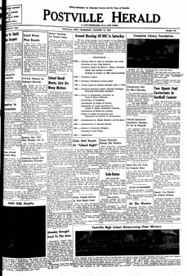 Postville Herald from Postville, Iowa on October 15, 1969 · Page 1