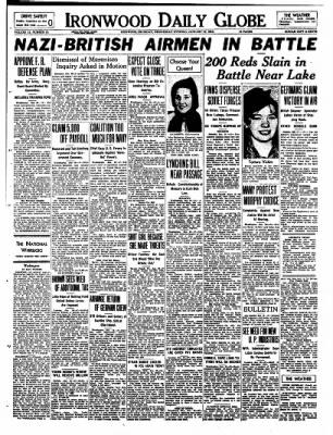 Ironwood Daily Globe from Ironwood, Michigan on January 10, 1940 · Page 1