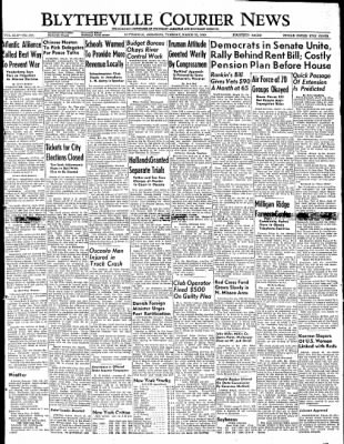 The Courier News from Blytheville, Arkansas on March 22, 1949 · Page 1