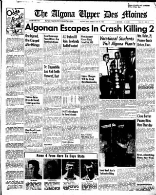 The Algona Upper Des Moines from Algona, Iowa on May 24, 1960 · Page 1