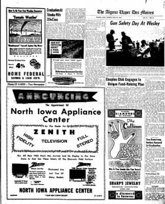The Algona Upper Des Moines from Algona, Iowa on May 24, 1960 · Page 9