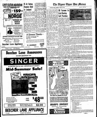 The Algona Upper Des Moines from Algona, Iowa on June 28, 1960 · Page 9