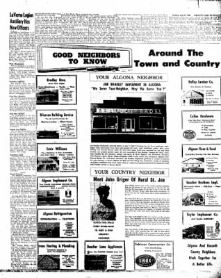 The Algona Upper Des Moines from Algona, Iowa on July 26, 1960 · Page 11