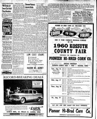 The Algona Upper Des Moines from Algona, Iowa on August 9, 1960 · Page 12