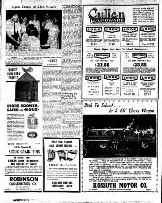 The Algona Upper Des Moines from Algona, Iowa on August 16, 1960 · Page 20