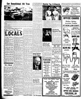 The Algona Upper Des Moines from Algona, Iowa on August 23, 1960 · Page 8