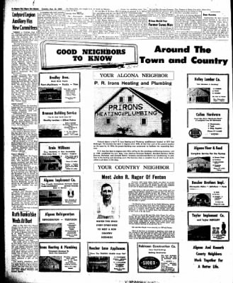 The Algona Upper Des Moines from Algona, Iowa on August 23, 1960 · Page 16