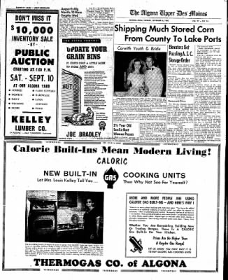 The Algona Upper Des Moines from Algona, Iowa on September 6, 1960 · Page 9