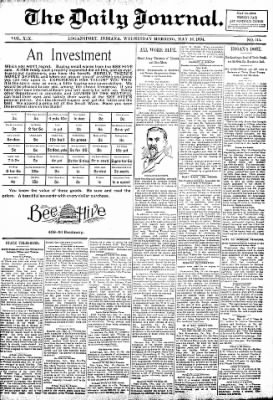 Logansport Pharos-Tribune from Logansport, Indiana on May 16, 1894 · Page 1