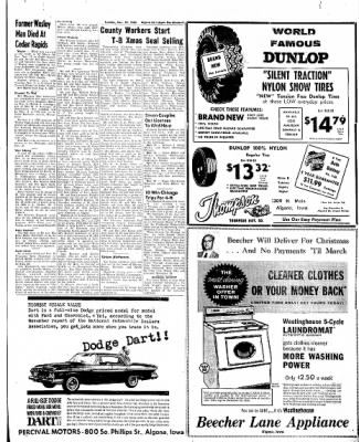 The Algona Upper Des Moines from Algona, Iowa on November 29, 1960 · Page 19