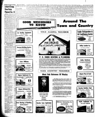 The Algona Upper Des Moines from Algona, Iowa on December 6, 1960 · Page 14