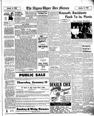 The Algona Upper Des Moines from Algona, Iowa on January 8, 1959 · Page 13