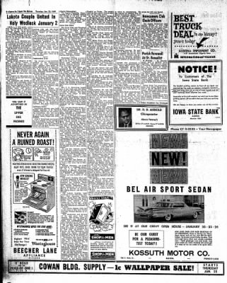 The Algona Upper Des Moines from Algona, Iowa on January 22, 1959 · Page 14