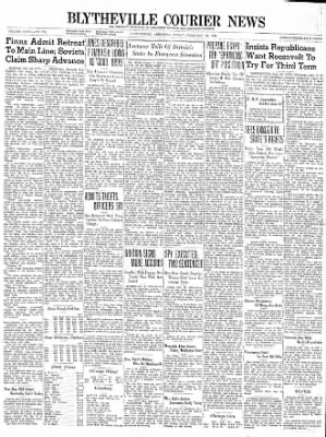 The Courier News from Blytheville, Arkansas on February 16, 1940 · Page 1