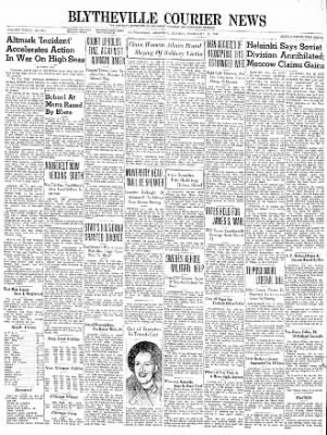 The Courier News from Blytheville, Arkansas on February 19, 1940 · Page 1
