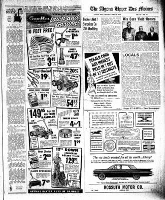 The Algona Upper Des Moines from Algona, Iowa on April 30, 1959 · Page 9