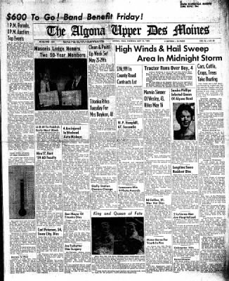 The Algona Upper Des Moines from Algona, Iowa on May 21, 1959 · Page 1