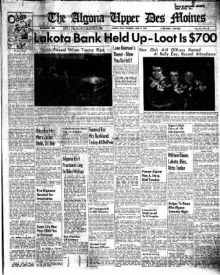 The Algona Upper Des Moines from Algona, Iowa on June 11, 1959 · Page 1