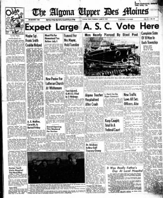 The Algona Upper Des Moines from Algona, Iowa on June 25, 1959 · Page 1