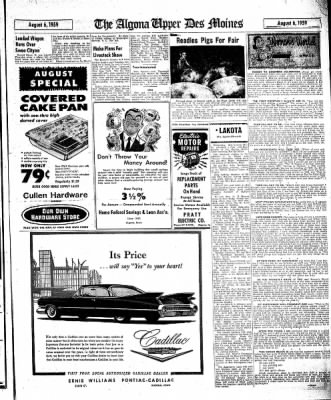 The Algona Upper Des Moines from Algona, Iowa on August 6, 1959 · Page 7