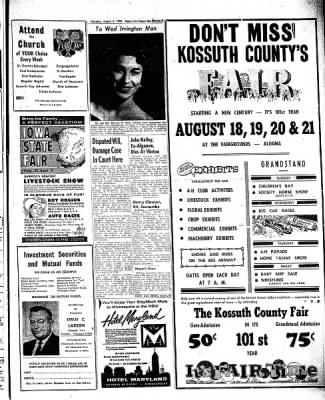 The Algona Upper Des Moines from Algona, Iowa on August 6, 1959 · Page 11