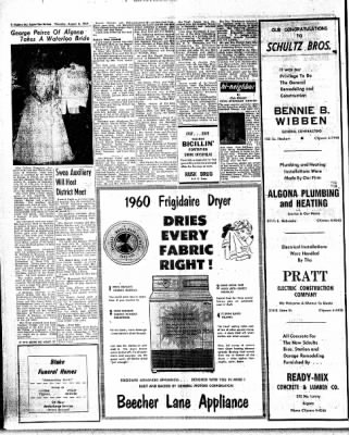The Algona Upper Des Moines from Algona, Iowa on August 6, 1959 · Page 14
