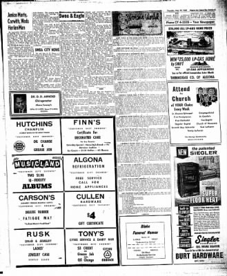 The Algona Upper Des Moines from Algona, Iowa on August 27, 1959 · Page 17
