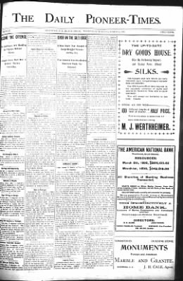 The Daily Deadwood Pioneer-Times from Deadwood, South Dakota on March 8, 1899 · Page 1