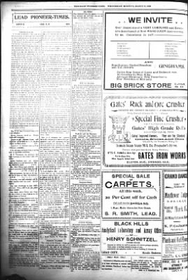 The Daily Deadwood Pioneer-Times from Deadwood, South Dakota on March 8, 1899 · Page 6