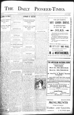 The Daily Deadwood Pioneer-Times from Deadwood, South Dakota on March 9, 1899 · Page 1