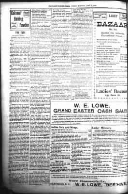 The Daily Deadwood Pioneer-Times from Deadwood, South Dakota on April 21, 1899 · Page 8