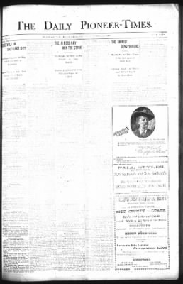 The Daily Deadwood Pioneer-Times from Deadwood, South Dakota on September 21, 1900 · Page 1