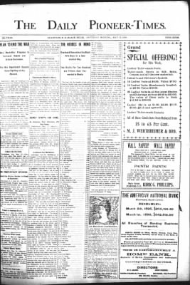The Daily Deadwood Pioneer-Times from Deadwood, South Dakota on May 13, 1899 · Page 1