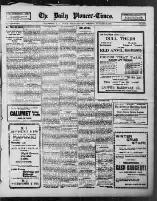 The Daily Deadwood Pioneer-Times from Deadwood, South Dakota on January 23, 1898 · Page 1