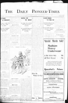 The Daily Deadwood Pioneer-Times from Deadwood, South Dakota on March 30, 1900 · Page 1