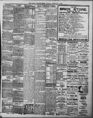 The Daily Deadwood Pioneer-Times from Deadwood, South Dakota on February 6, 1898 · Page 3