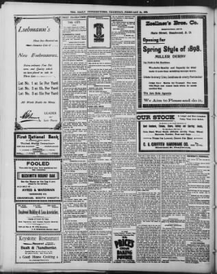 The Daily Deadwood Pioneer-Times from Deadwood, South Dakota on February 24, 1898 · Page 4