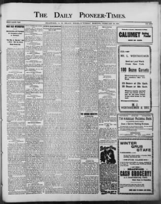 The Daily Deadwood Pioneer-Times from Deadwood, South Dakota on February 26, 1898 · Page 1